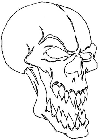 "Ab 484107 skull stencil no 7 6 "" x 4 "" 17 29"