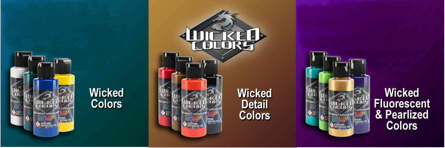 Airbrush colors main page wicked colors are multi surface airbrush paint suitable for textile automotive hard surface canvass paper plastic wood and more nvjuhfo Images