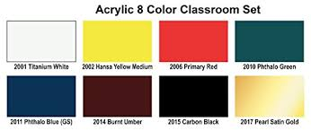 2039 Acrylic Colors Primary Colors
