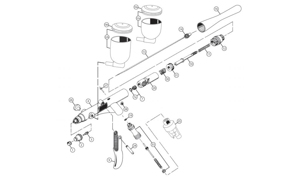 IWATA Nadeldichtung mit Schraube HP-ARHP-BR