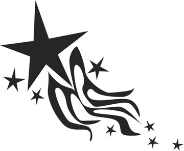 Star Tattoo Stencil